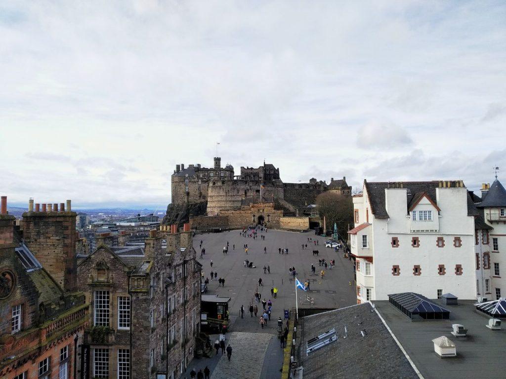 La vista del Castello dalla Camera Obsura