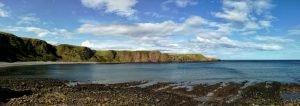 Vista sul mare del nord dal Dunnottar Castle