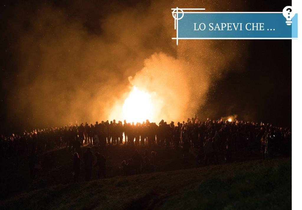 Samhuinn Fire Festival sulla cima del Calton Hill ad Halloween