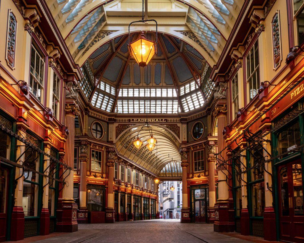 Il mercato di Leadenhall a Londra.