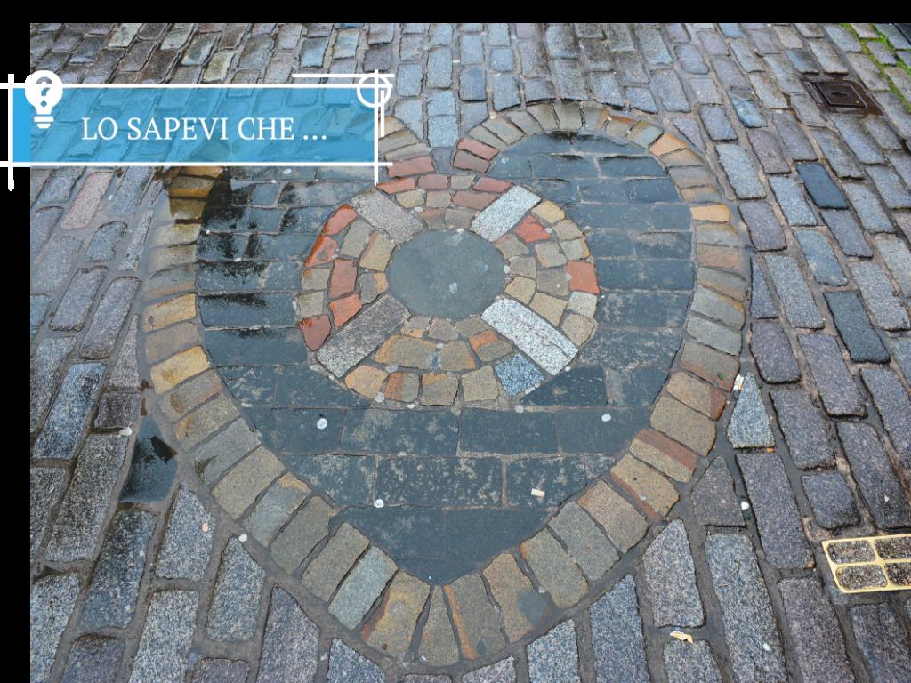 Il cuore di Midlothian sulla Royal Mile, vicino alla St. Gile's Cathedral.