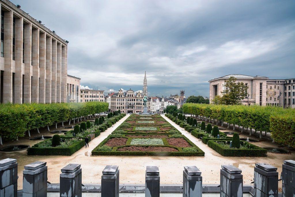 Mont des Arts a Bruxelles.