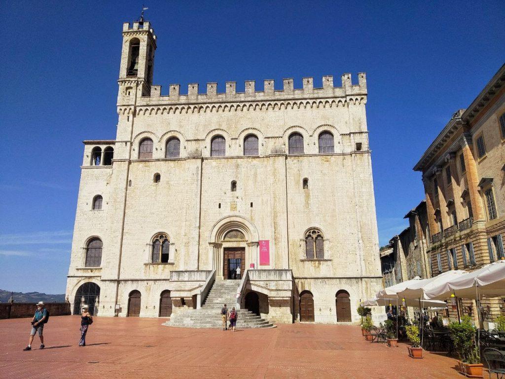 Il Palazzo dei Consoli in Piazza Grande a Gubbio.
