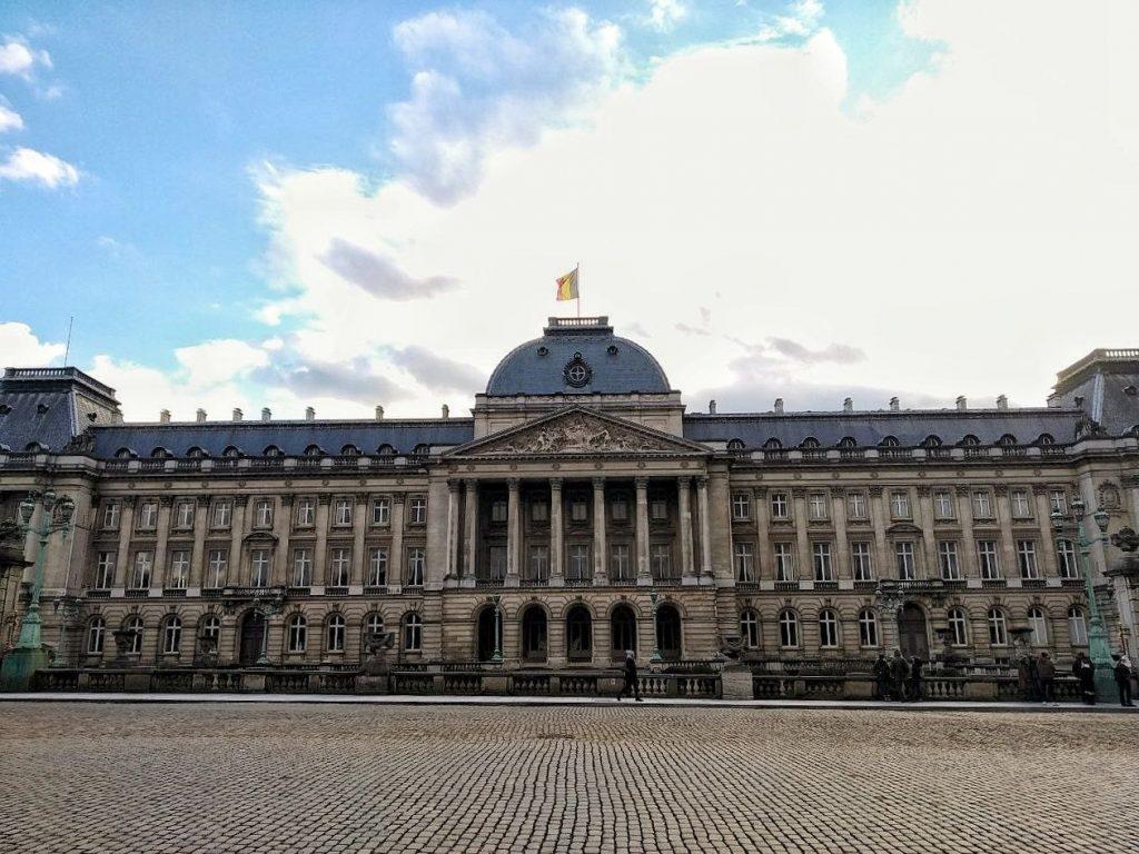 Il palazzo reale di Bruxelles.