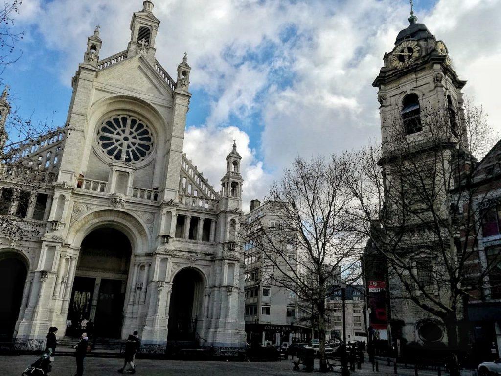 Gli esterni della Chiesa di Santa Caterina a Bruxelles.