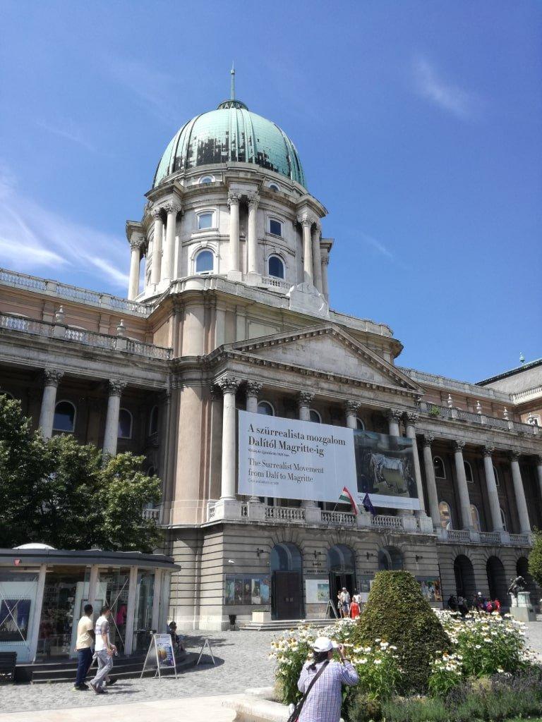 Uno dei musei del castello di Buda a Budapest