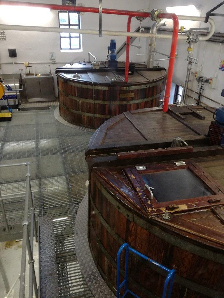 Le vache in legno per la lavorazione del whisky