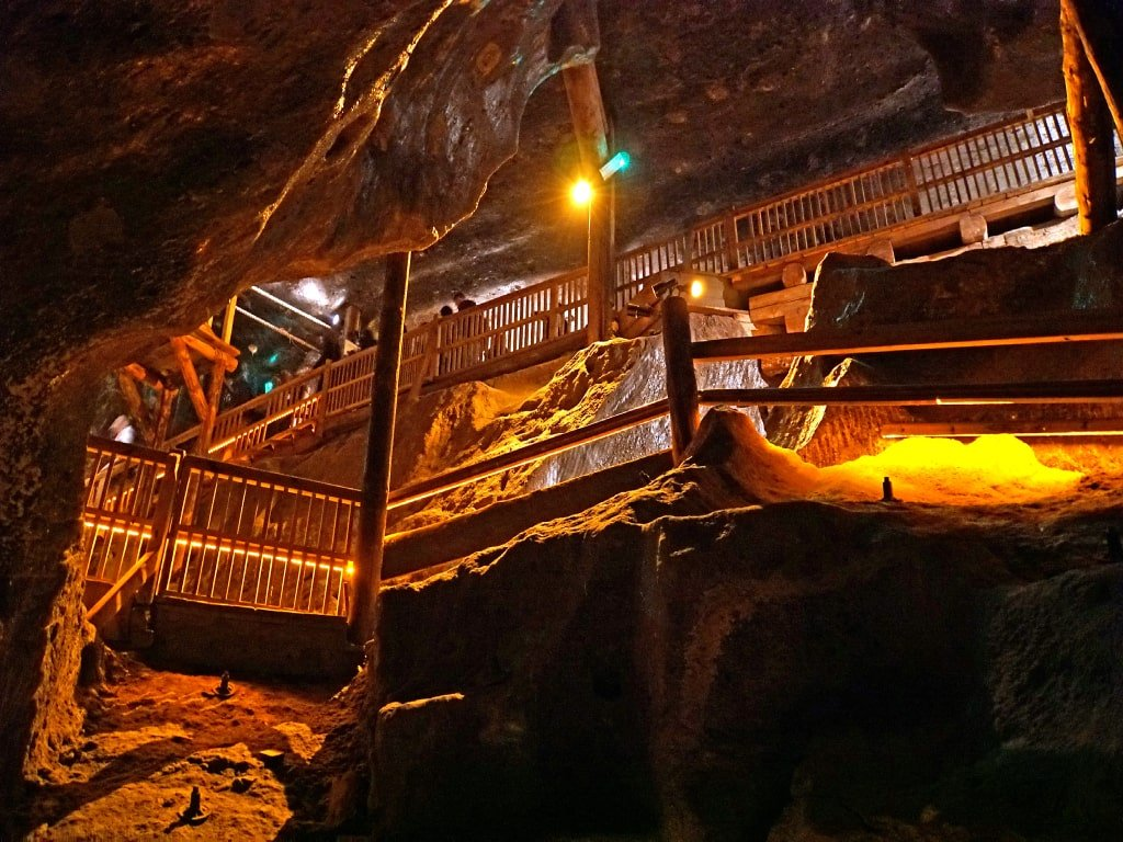 Il percorso interno alla miniera.