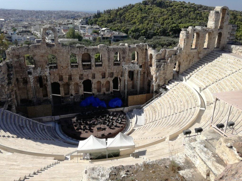 Il teatro di Erode Attico visto dall'alto