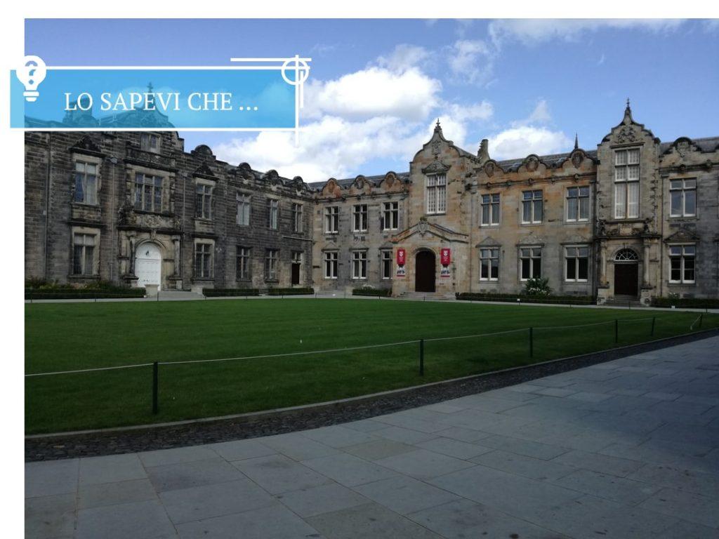 Il cortile interno dell'Università di St. Andrews