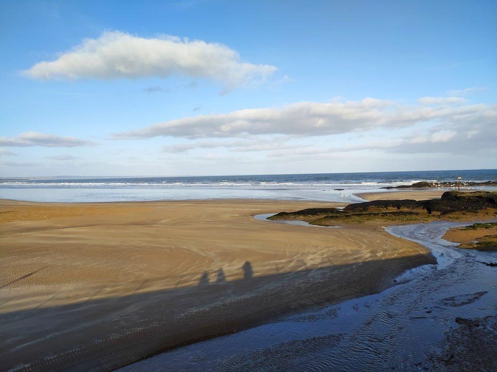 La spiaggia di West Sand a Saint Andrews