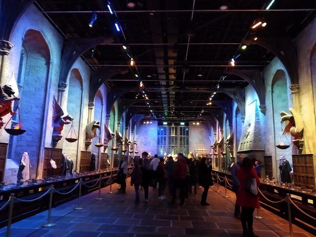 La sala grande di Hogwarts ai Warner Bros Studio Tour - The Making of Harry Potter a Londra
