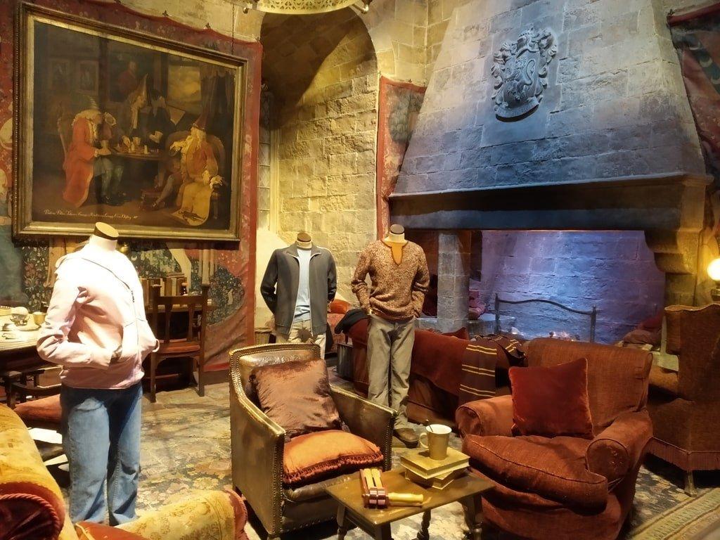 La sala comune di Grifondoro ai Warner Bros Studio Tour - The Making of Harry Potter a Londra