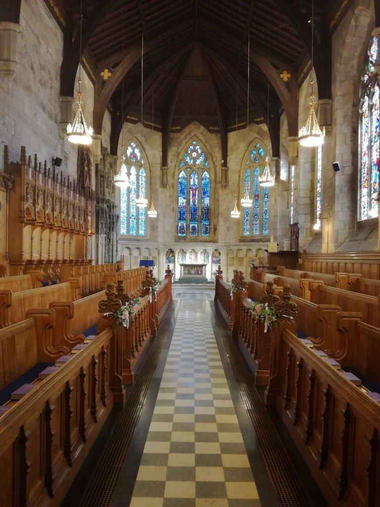 La cappella dell'Università di Saint Andrews vista dall'interno