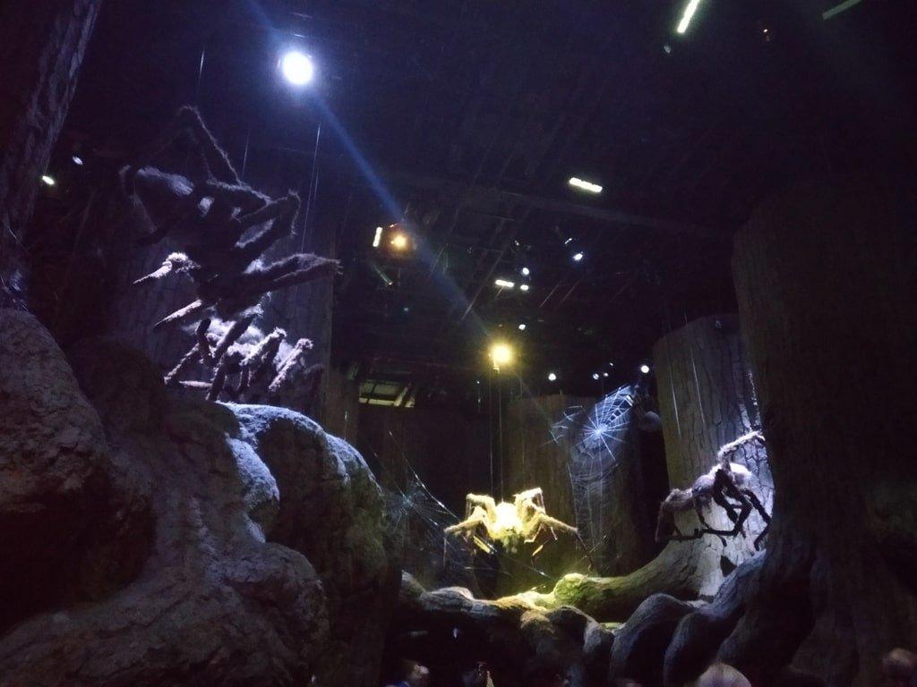I ragni appesi nella Foresta Proibita ai Warner Bros Studio Tour - The Making of Harry Potter a Londra