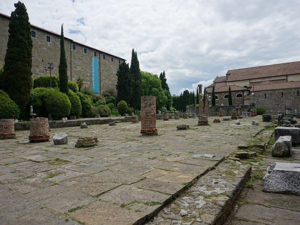I resti della cattedrale di San Giusto a Trieste