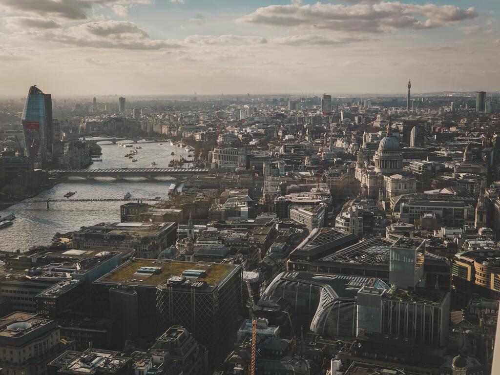 Vista di Londra dallo Sky Garden