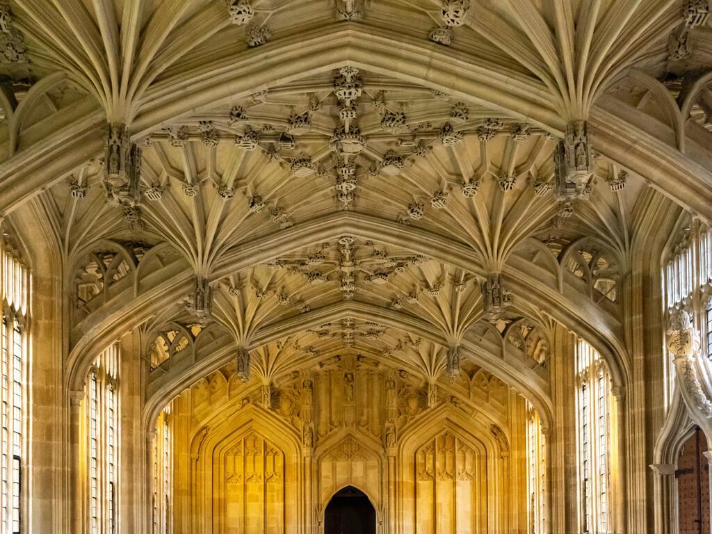 Uno dei corridoi interni della Bodleian Library a Oxford.