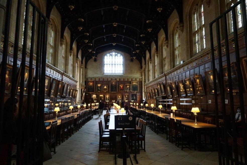 La Great Hall del Church College a Oxford.