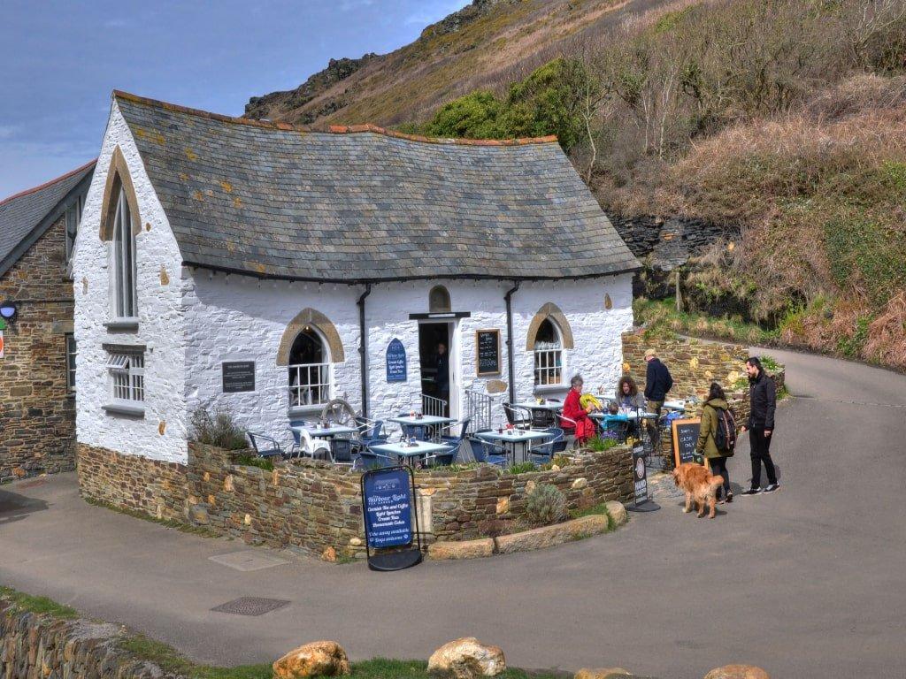 La tea room conosciuta come Pixie House a Boscastle in Cornovaglia