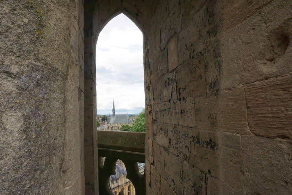 Scorcio dalla torre dell'University Church of St Mary