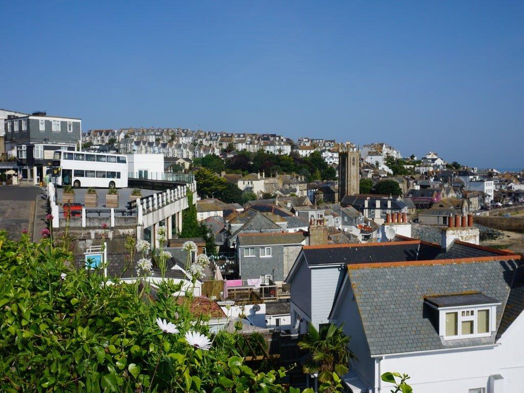 Vista della cittadina di St Ives dal punto panoramico The Terrace.